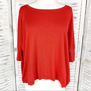 Cabi   Dolman Sleeve Red Knit Sweater